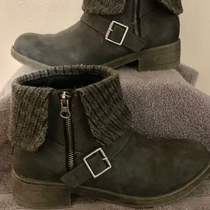 Rocket Dog Gray Ankle Boots